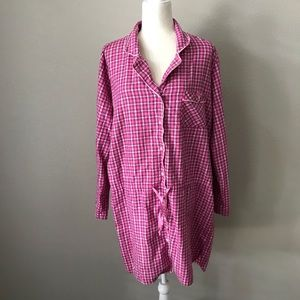 Victoria's Secret Plaid Flannel Nightgown Large